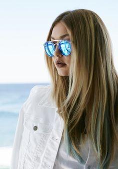 Gigi Hadid Blue Hair Ends