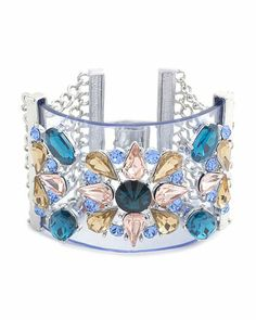 Blue and clear cuff