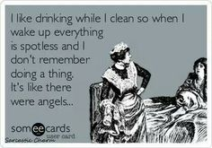 Drinking and cleaning