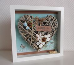 scrapbooking idea for a frame ♥ Mini Canvas, Canvas Frame, Let's Make Art, Button Crafts, Diy Photo, Homemade Gifts, Wall Decor, Frames, Paintings