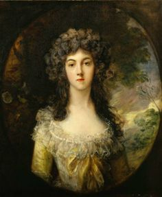 Artist Thomas Gainsborough (1727–1788)  Mrs. Charles Hatchett Date circa 1786 oil on canvas Dimensions 75.6 × 62.5 cm (29.8 × 24.6 in) Current location Frick Collection