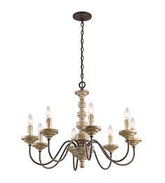 Kichler Briellis 8 Light Chandelier in Vintage Weathered White 43472VWW #kichler #lightingnewyork #undercabinetlighting #outdoorlighting #lighting