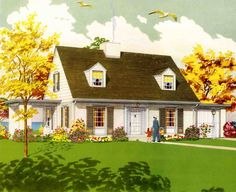 1940s and 1950s house designs | 1950 American dream houses - we start a new series - Retro Renovation
