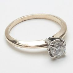 Fine Antique Jewelry | ... Vintage › Vintage 14k Gold Diamond Engagement Ring Fine Jewelry