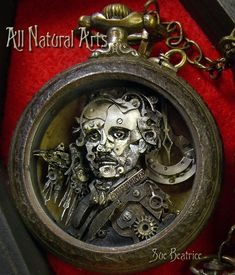 Steampunk Pocket Watch Art Sculptures by All Natural Arts Steampunk Kunst, Style Steampunk, Steampunk Design, Steampunk Diy, Steampunk House, Steampunk Fashion, Edgar Allan Poe, Pocket Watch Art, Sculpture Art