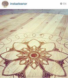 WoodenBurned Mandala