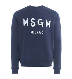 MSGM MSGM BLUE SWEATER WITH LOGO. #msgm #cloth #