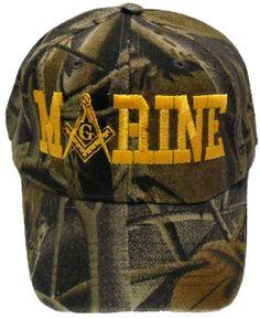 fcbd079d0ed U.S. MARINES Camouflage Masonic Baseball Cap Camo Marine Mason Logo Hat for  Freemasons Shriners Prince Hall Masons Headwear