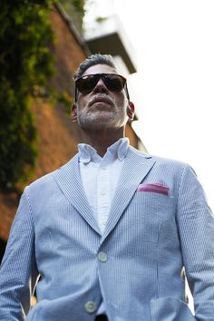 Nick Wooster - summer attire. One of my fashion role models
