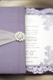 Luxurious Wedding Invitation Style: Purple and Silver Wedding Invitations