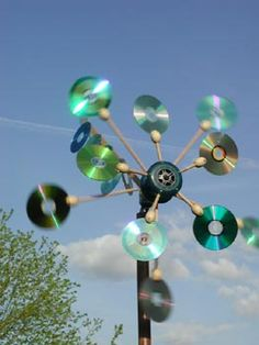 Great usage of old and not wanted CDs.