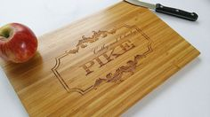 Personalized cutting board custom bamboo chopping board by TreeX