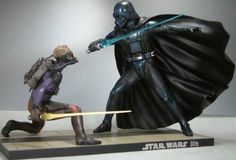 STAR WARS Luke Skywalker vs. Darth Vader Ralph Mak Wally Ver. (1/7 scale PVC painted simple assembly @ niftywarehouse.com #NiftyWarehouse #Geek #Products #StarWars #Movies #Film