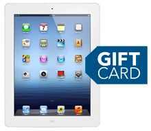 Wednesday Only: iPad 3 - 50 off w 75 gift card $550