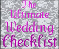 The Ultimate Wedding Checklist - Beaux and Belles