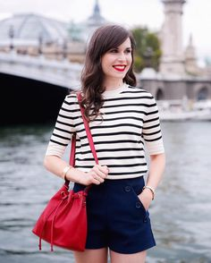 Les Rouges Edition et Edition Velvet de Bourjois — Mode and The City Preppy Outfits, Girly Outfits, Preppy Style, Short Outfits, Cute Outfits, Sailor Fashion, Girl Fashion, Fashion Outfits, Parisian Style