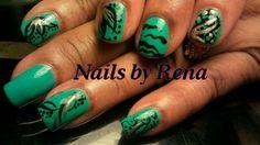 Natural nails, freehand art #nails #nailart