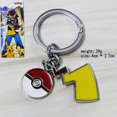 Pokemon Pokeball & Pikachu Tail Metal Keychain (cod: ev-c) World of Ash    #WorldOfAsh #PokemonGO #Pokemon