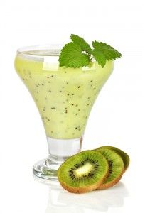 Skinny Ms. Green Tea Kiwi-Berry Smoothie. A great refreshing low cal smoothie.