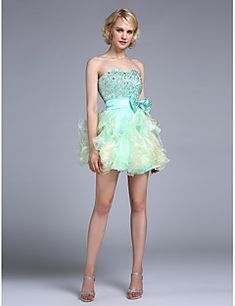 A-Line+Sweetheart+Knee+Length+Taffeta+Cocktail+Party+Homecoming+Dress+with+Beading+by+Sarahbridal+–+USD+$+200.00