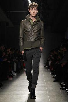 Men Green Colored Leather Jacket #menfashion #menjacket