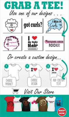 Pick up a t shirt for your hair journey! http://www.blackhairinformation.com/t-shirts/t-shirts/
