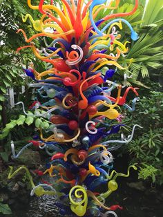 Chihuli in the garden!