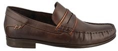 Hush Puppies Men's Circuit CX41MT Penny Loafer, Dark Brown Leather, 10.5 W US
