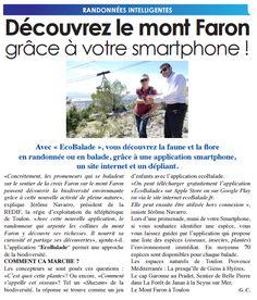 TELEX VAR - Randonnées intelligentes - Découvrez le mont Faron grâce à votre smartphone ! | Balade : Randonnée près de chez vous