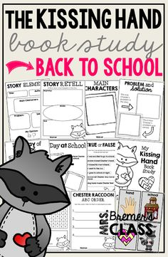 The Kissing Hand book study companion activities perfect for back to school! Use for whole class guided reading, small groups, or individual study packs. Packed with lots of fun literacy ideas and guided reading activities. Guided Reading Activities, Book Activities, The Kissing Hand Book, Back To School Pictures, Small Group Reading, 2nd Grade Reading, Book Study, Kindergarten Literacy, Chapter Books