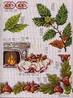 Schemi a punto croce gratuiti per tutti: Piante, foglie e fiori a punto croce