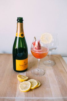 It's always a good time of year for happy hour featuring a cocktail of champagne and strawberry popsicles | Jess Ann Kirby