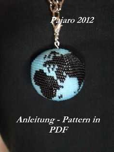 "*P Pattern for bead crochet sphere ""World"". $5.00, via Etsy."