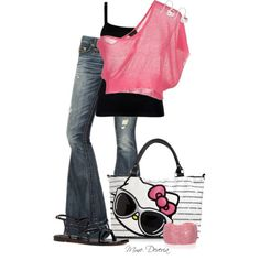 Hello Kitty!!, created by madamedeveria on Polyvore