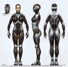 space warriors by adamwee on DeviantArt Character Concept, Character Art, Character Design, Powered Exoskeleton, Female Armor, Future Soldier, Sci Fi Armor, Arte Cyberpunk, Armor Concept