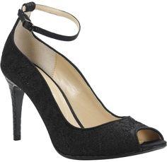 9b1397a7aef J. Renee Raspalli Ankle Strap Peep Toe Pump in Black. Flirty and curvaceous