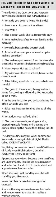 This Man Took His Wife For Granted. But Then This Happened.