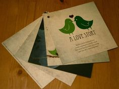Great wedding invatations... i love the trees with the birds after you click the link!