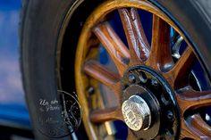 Blue and brown Wheel vintage car photography automobile retro UNIC, french decor, interior design, fine art photo, living room decor