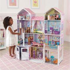 Toen ik laatst een Kidkraft poppenhuis zag, begon mijn hart sneller te kloppen. Stop maar met zoeken, dit is het perfecte cadeau, een droom voor elk meisje. www.metmirjam.com #blogfeestje