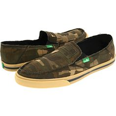 Sanuk Standard Issue Camo - not sure why, but I think the camo is cool.