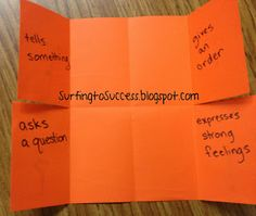 My ELD class is focusing on sentences this month.  I thought our lesson on the four sentence types would be a great opportunity for me to try out my first from-scratch foldable.  I was nervous.  Coming from 2nd grade, the idea of having them fold and fold and fold and cut from verbal directions… what …