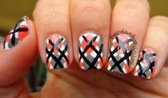 Fall Argyle Print Nails - Peace, Love & Polish
