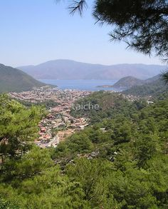 Landscape Of Icmeler Marmaris Turkey From Mountain Road