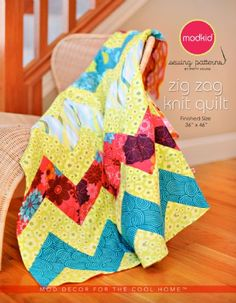 Zig Zag Knit Quilt by ModKid - We are excited to have this great quilt pattern to share with you! This quilt was designed exclusively for Baby Lock by Patty Young of MODKID, LLC. This quilt can be made on a serger or sewing machine and is great for the beginner or advanced sewer.