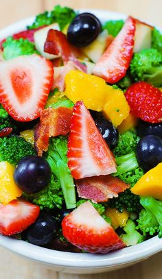Broccoli salad with strawberries, mango, and bacon | Flickr