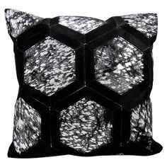 Showcasing hide upholstery and a geometric medallion design, this lovely pillow adds a pop of style to your sofa or settee.  Product...