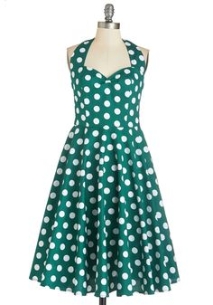 Plus Sizes - Like, Oh My Dot! Dress in Forest