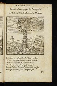 L'envie est compagne de l'integrité. Page from: Hadrianus Junius. Les emblesmes. Antwerp, Christophe Plantin, 1567