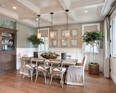 Everyday Dining Room Table Centerpieces Ideas : Traditional Dining Room With Ceiling Panels Wooden Floors Is It Tuscan Dining Room Table Centerpiece Ideas